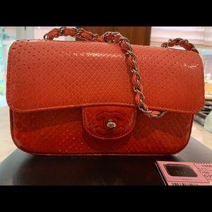 Chanel ombré python shoulder crossbody bag